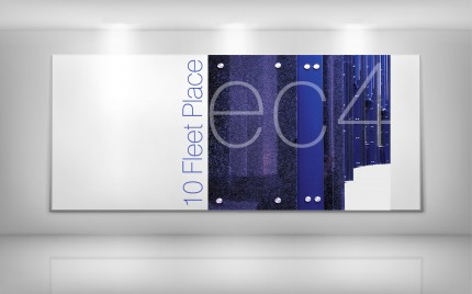© series > OFFICE space > 10 Fleet Place - bespoke reception area commission