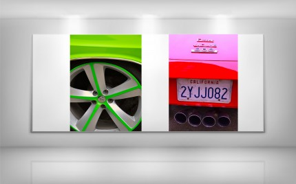 Green Charger Wheel   /    Red E-Type