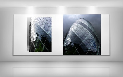 © series > Cityscape - original photo series - London Gerkin - Storm 01 and Storm 02